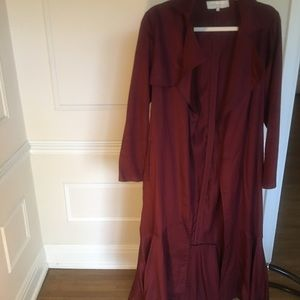 New French Mauve (Anthropologie) Trench Coat